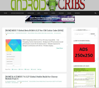 ADVERTISE TO ANDROIDCRIBS