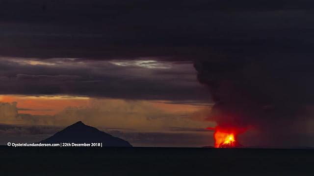 Beredar Video Letusan Gunung Anak Krakatau yang Diduga Picu Tsunami di Selat Sunda