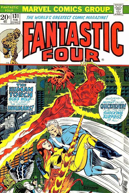 Fantastc Four v1 #131 marvel comic book cover art by Jim Steranko