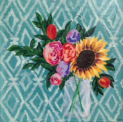 Lacey Craig | Sunflower I | 24 x 24 | $240