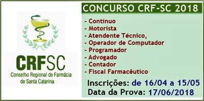 Concurso CRF-SC 2018