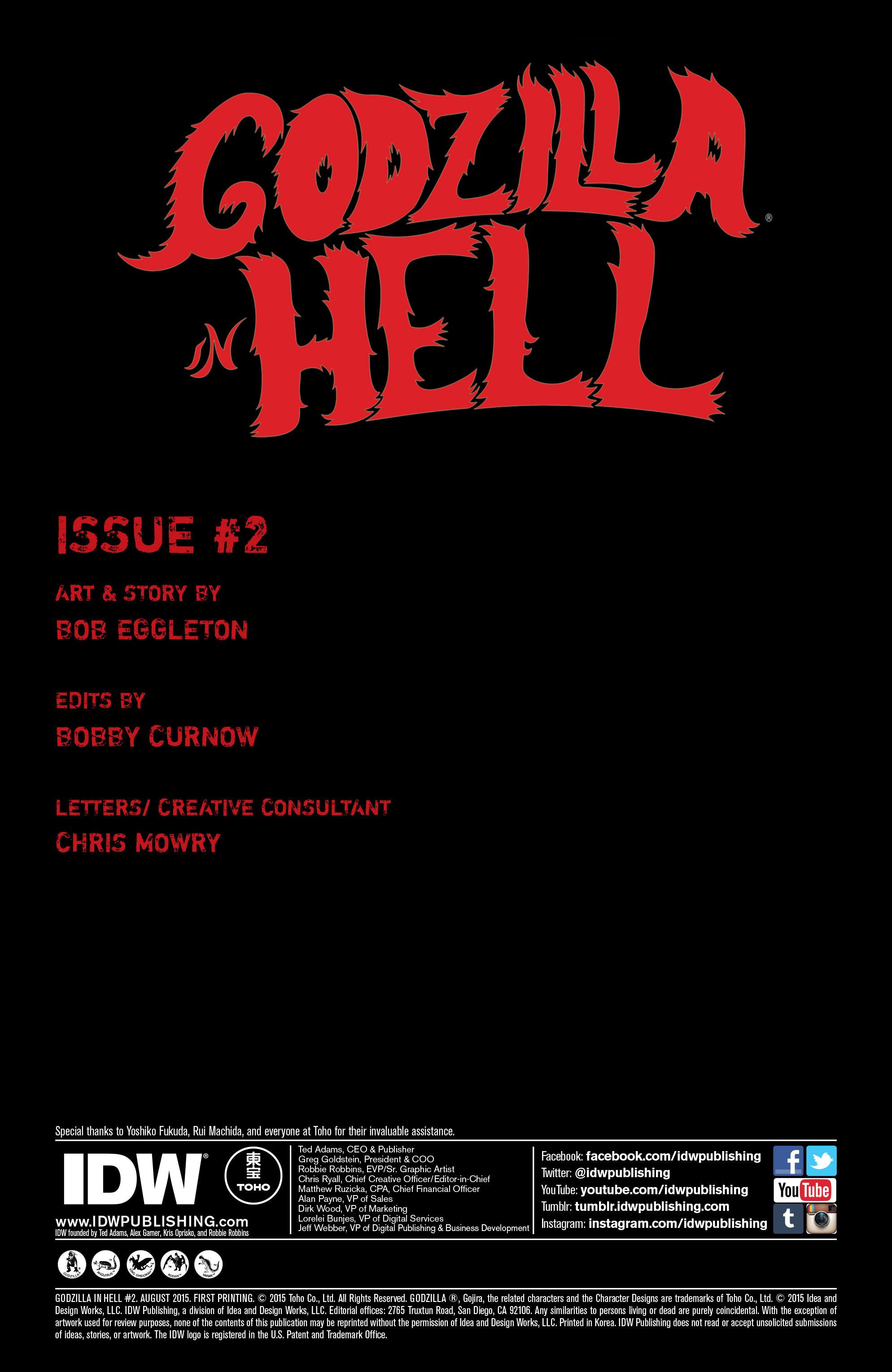 Godzilla in Hell 2015 Issue 2 | Viewcomic reading comics