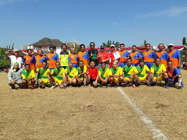 Kecamatan Lawang Kidul Kerjasama Dengan PTBA Adakan Lomba Sepak Bola Ceria U40