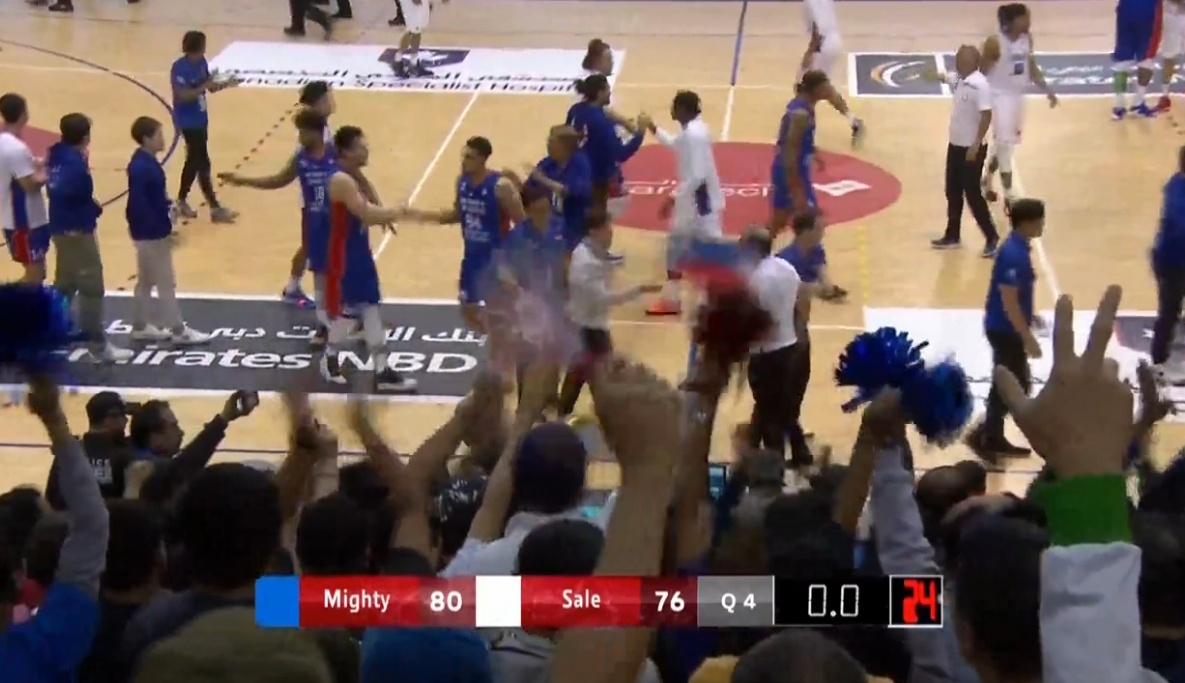 Mighty Sports def. AS Sale Morocco, 80-76 (REPLAY VIDEO) SEMIFINALS | 2020 Dubai International Basketball Championship | January 31