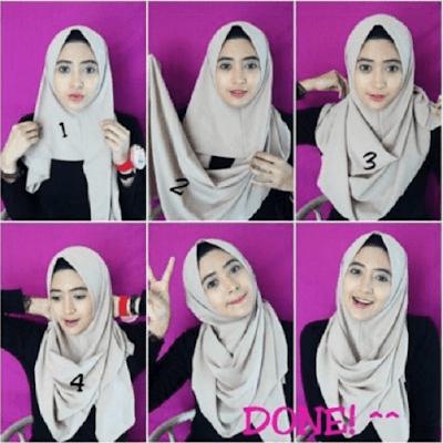 5 Kreasi Model Hijab Segi Empat Simple dan Modis di Tahun 2017