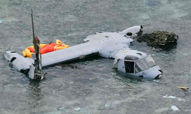 US MARINE OSPREY CRASHES OFF JAPAN