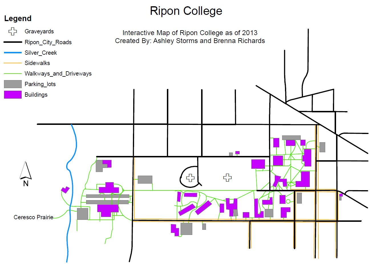 Ripon College Sustainability: First georeferenced map of campus! on