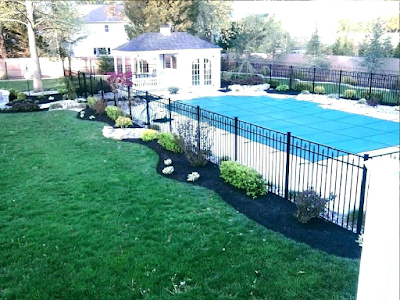 Fence Around Pool Landscape A Ideas Landscaping