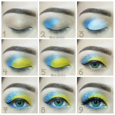 Tutorial Eye Makeup - Inside Out, Joy