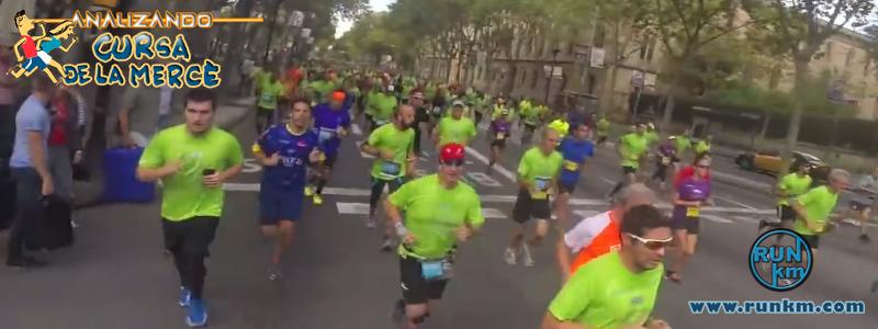 Gran Vía de les Corts Catalanes - Analizando Cursa de la Mercè 2016