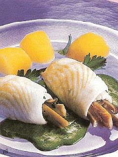 Rybie závitky so špenátovou omáčku