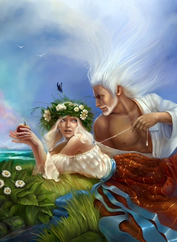 Little Witchy Wonders: Greek Mythology: Gaia and Ouranos (reading  discretion advised)