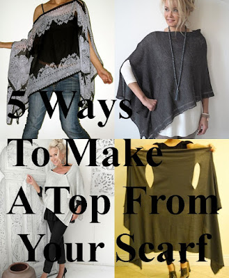 How To ake Top Fro Scarf 5 Ways (DIY Tops)
