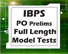 IBPS PO prelims full length tests