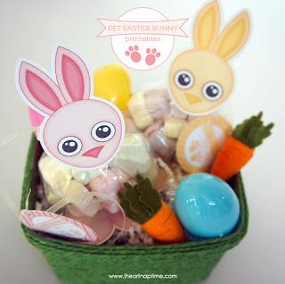 template coniglio per sacchetti caramelle