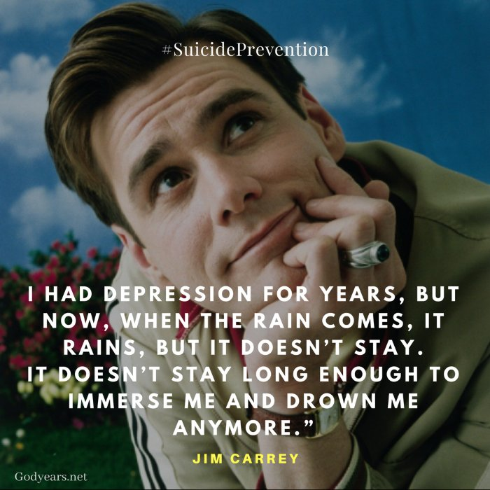 Suicide Prevention: Jim Carrey talks on his battle with depression