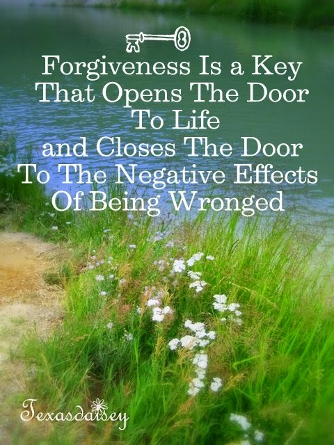 Close the Door To Negative Effects of being wronged and Open The Door To Life with the Key of  Forgiveness