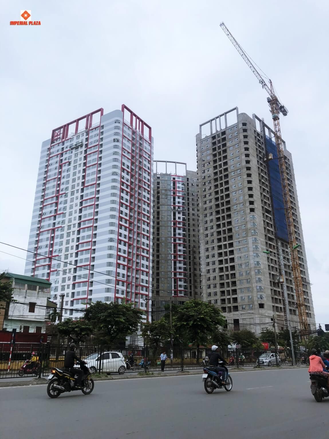 Hình ảnh tiến độ toà IP1 dự án Imperial Plaza