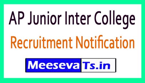 AP Junior Inter College Recruitment