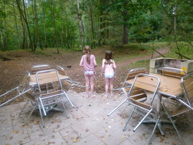 stephs two girls outdoors on patio at center parcs