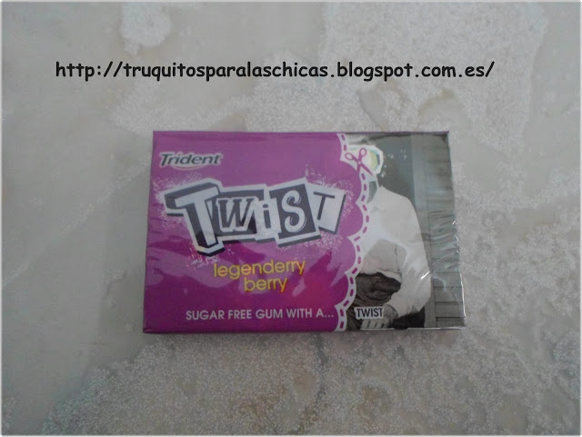 chicles fresa TRIDENT TWIST