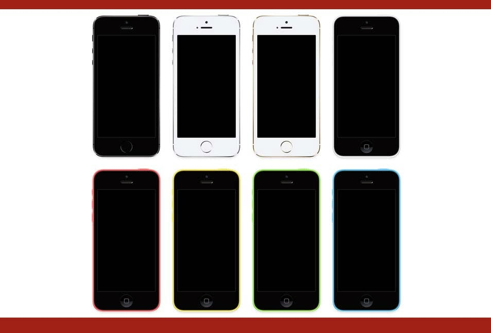 iPhone 5S & 5C PSD File