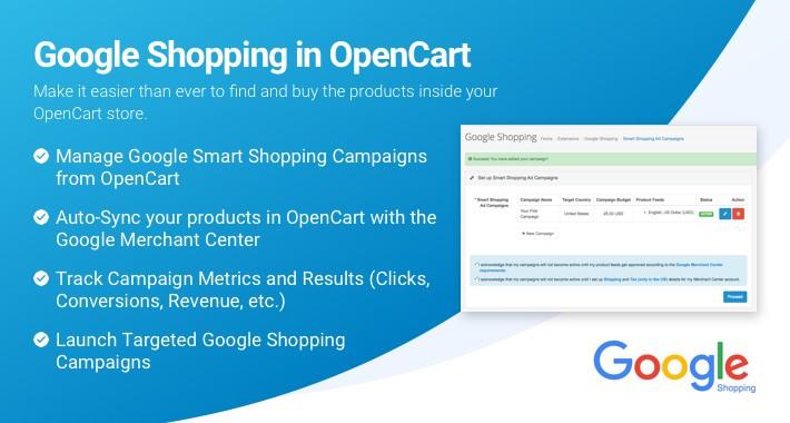 Google Shopping cho OpenCart 3.0.2.0