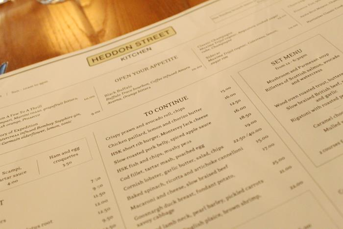 london, winter, christmas, decorations, soho, west end, heddon street kitchen, gordon ramsay. menu