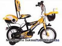 4 Sepeda Anak Evergreen EG1245 Future Cop dengan Sandaran 12 Inci
