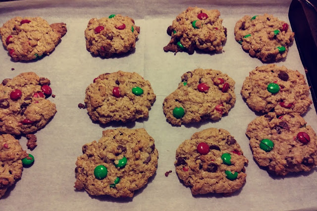 Festive Monster Cookies