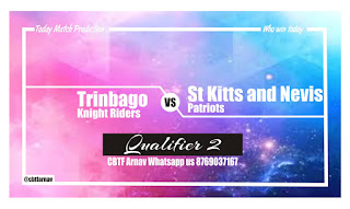 Today Match TKR vs SKN Prediction CPL T20 Qualifier 2