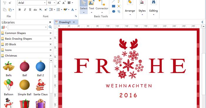 Edraw max darstellung software wunderbare software f r - Weihnachtskarten erstellen ...