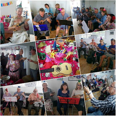 Wukulele party time at Worthing Rowing Club