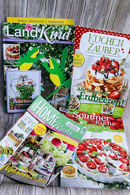 Panini Zeitschriften wie Land Kind, Home made, Küchenzauber
