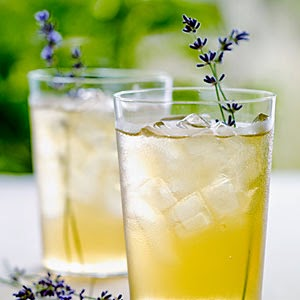 Iced Green Tea with Lavender Blossoms