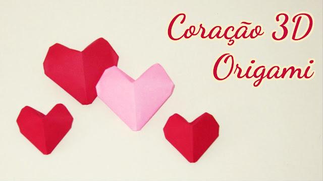 Origami Coração 3D