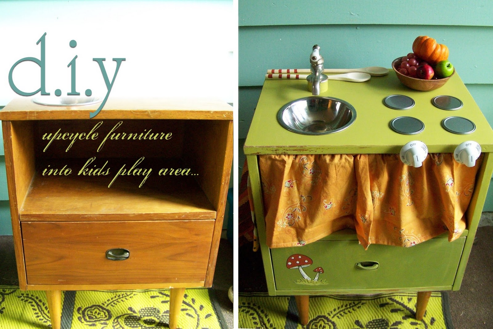 Needle and Nest Design: D.I.Y - upcycle furniture into kid ...  Needle and Nest...