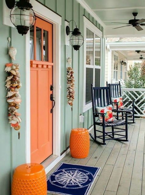 Spring Beach Home Front Porch Inspiration 10 Ideas