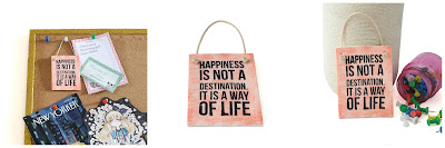 Small Happiness Wall Plaques for the Office and Home By Lottie Of London