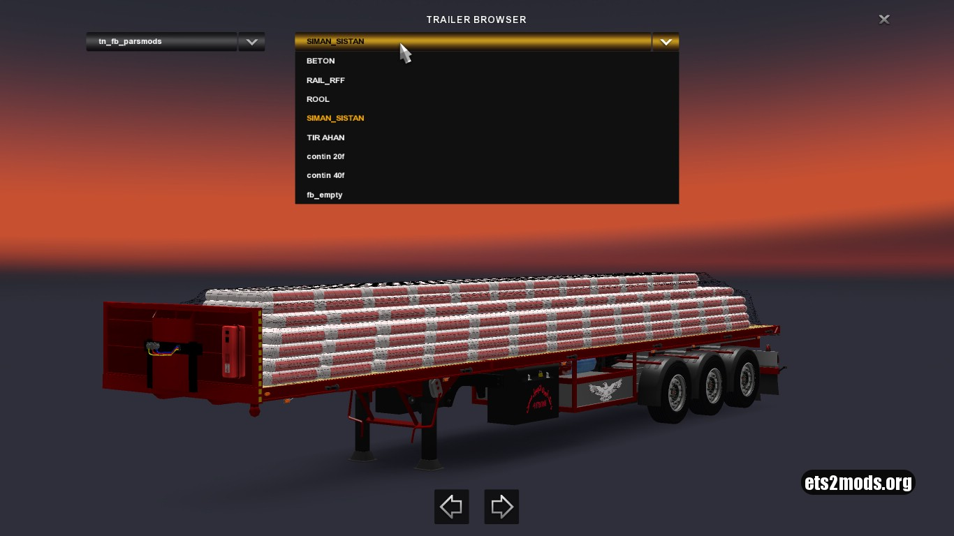 Flatbed Iranian Trailers Pack