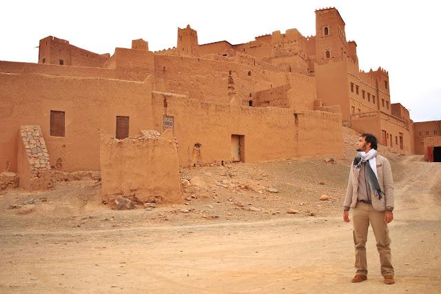 Construção no caminho entre Marrakech e Zagora.