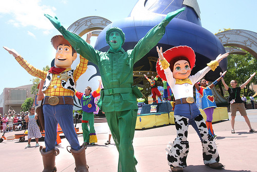 Desfile dos personagens no Hollywood Studios