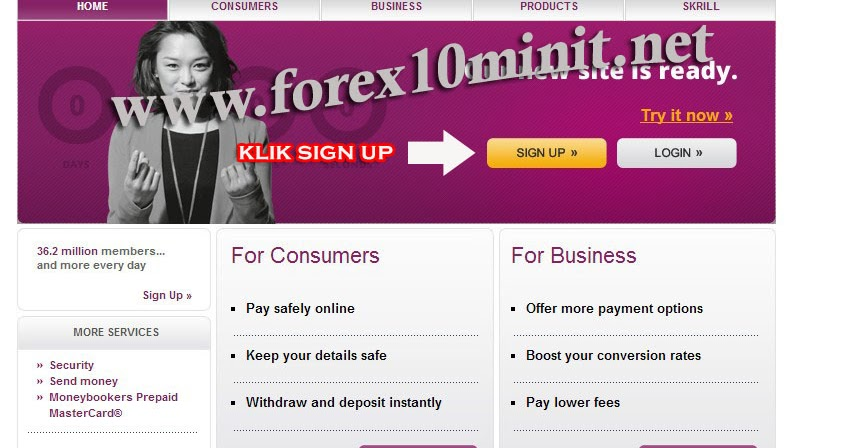 Forex skrill deposit