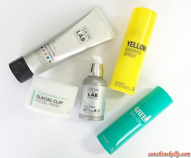 Skin & Lab, Dr Vita Clinic, Always Vita Foam Cleanser, ACE Triple Action Essence, Dr Color Effect, Yellow Essence Spray, Green Gel Oil, Dr Pore Tightening, Glacial Clay Facial Mask, k beauty, korean beauty, korea cosmetics, Skin & Lab by Nattacosme