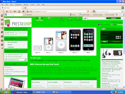 Free Prestashop 1.3.6.0 css template green and white