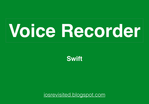 How to Record and Play Audio in iPhone using swift 4