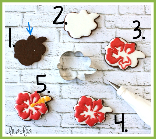 Luau cookie decorating tutorial