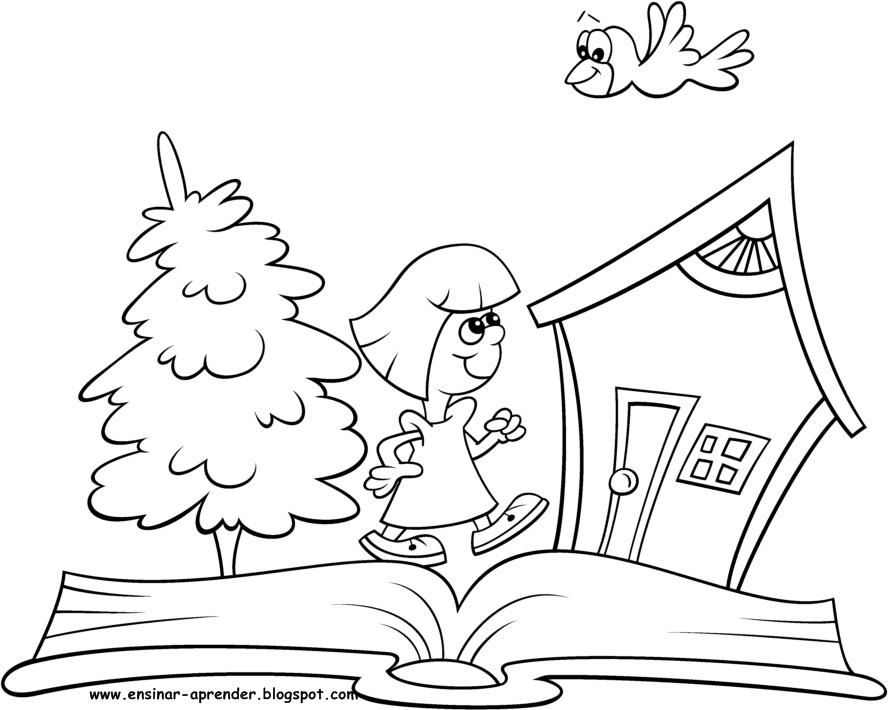 Dibujos Sobre La Escuela Para Colorear E Imprimir: DESENHOS PARA COLORIR DIA DO LIVRO