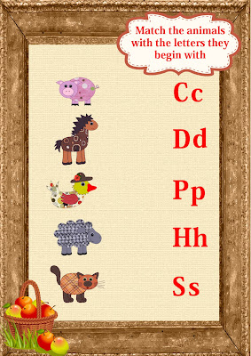 farm animals worksheet for kids to learn English