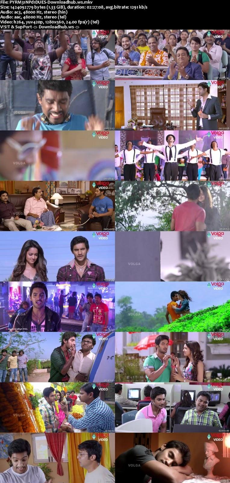 Pyar Mein Padipoyane 2014 UNCUT Hindi Dual Audio 720p  Download